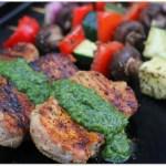 Grilled Boneless Pork Chops with Chimichurri