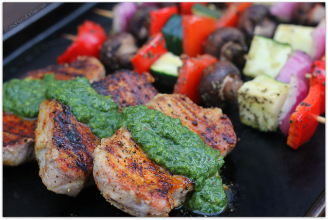 Grilled Boneless Pork Chops with Chimichurri