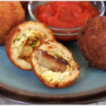 Cornbread Battered Breakfast Bites with Sausage and Egg
