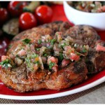 Chili Lime Grilled Pork with Watermelon Pico de Gallo