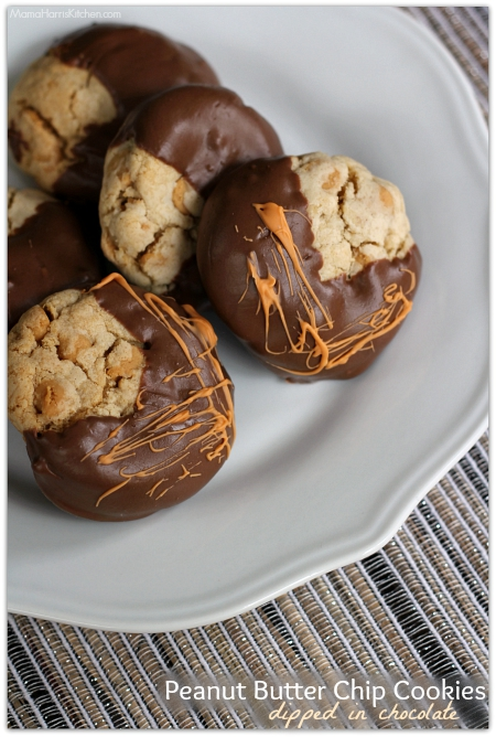 peanut butter chip cookie dipped in chocolate | Mama Harris' Kitchen