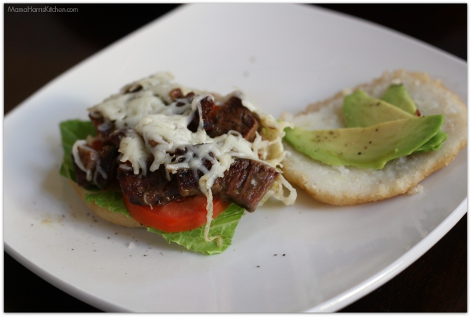 Steak Arepas with Mozzarella, Tomato and Avocado #PANFan #IC - Mama Harris' Kitchen