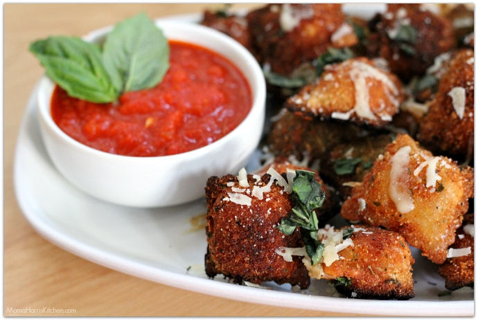 Fried Ravioli with Marinara Sauce