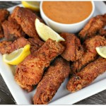 Cajun Buttermilk Fried Wings with Spicy Aioli
