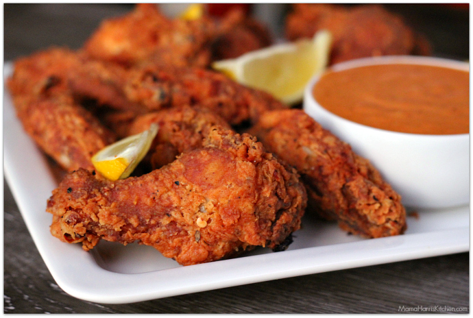 Cajun Buttermilk Wings with Spicy Red Aioli