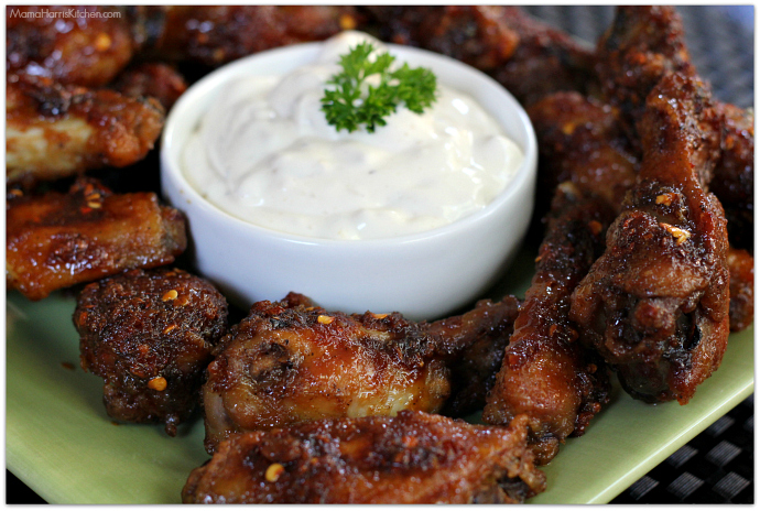 Ginger Honey Garlic Wings with French Onion Dip