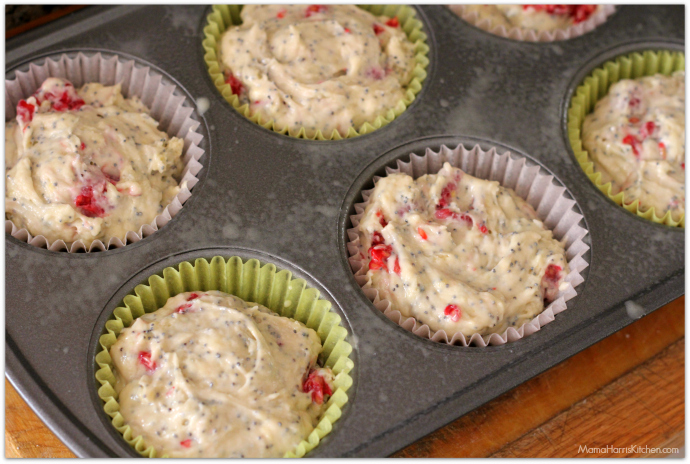 Jumbo Raspberry Lemon Poppy Seed Muffins | Mama Harris' Kitchen