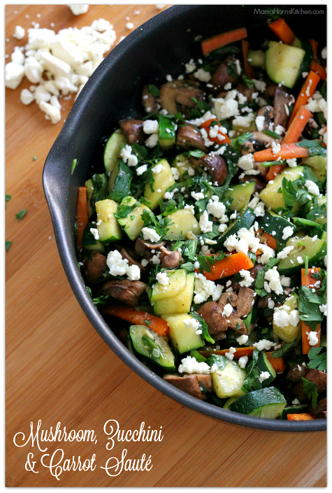 Mushroom, Zucchini and Carrot Saute | Mama Harris' Kitchen