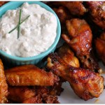 Smoky Brown Sugar Wings with Blue Cheese Dip