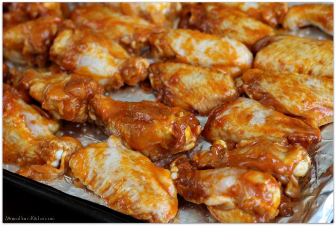 smoky brown sugar wings with blue cheese dip #ChicksWingIt #WingItWednesday   Mama Harris' Kitchen