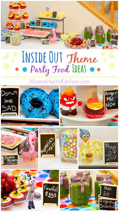 Inside Out Theme Party Food Ideas #InsideOutEmotions #cbias AD | Mama Harris' Kitchen