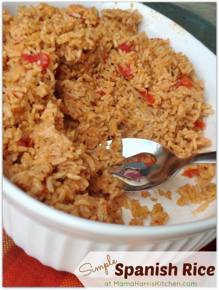 Thanksgiving for the Vegetarian - 12 Recipe Ideas - simple spanish rice | Mama Harris' Kitchen