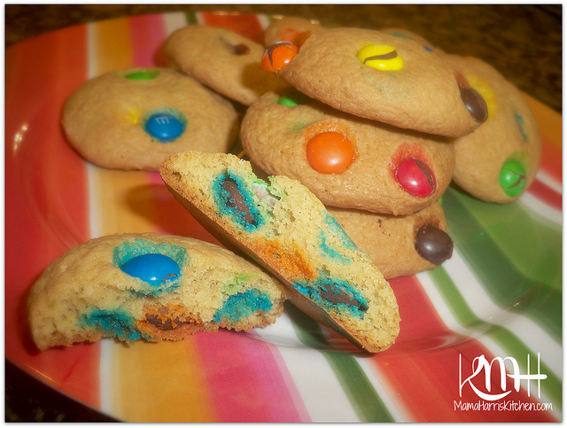 M&M Cookies - 15+ Cookie Recipes from Mama Harris' Kitchen | Mama Harris' Kitchen