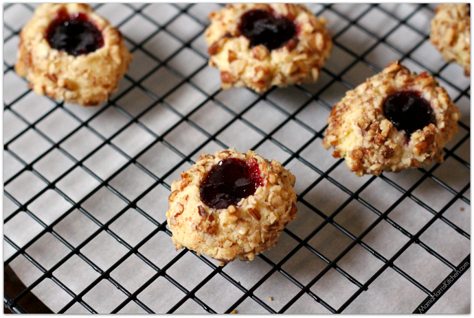 cherry pecan thumbprint cookies 8