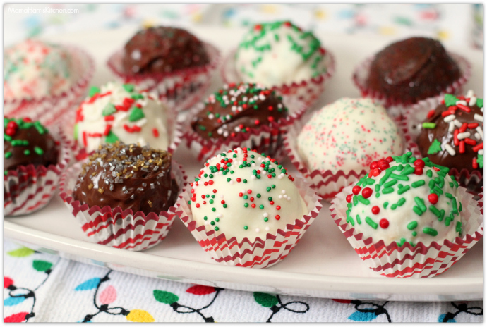 Holiday Truffles with Pebbles Cereal