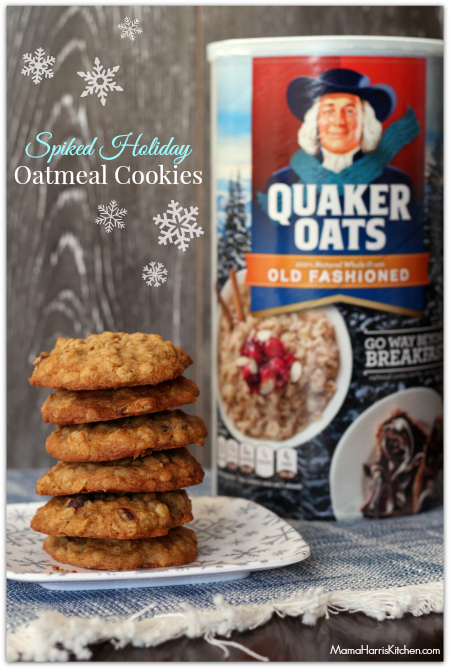 SPIKED Holiday Oatmeal Cookies - 15+ Cookie Recipes from Mama Harris' Kitchen | Mama Harris' Kitchen