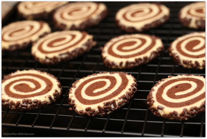 Chocolate Pinwheel Cookies - 15+ Cookie Recipes from Mama Harris' Kitchen | Mama Harris' Kitchen