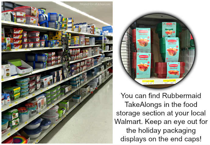 Rubbermaid TakeAlongs available at Walmart in the Food Storage section