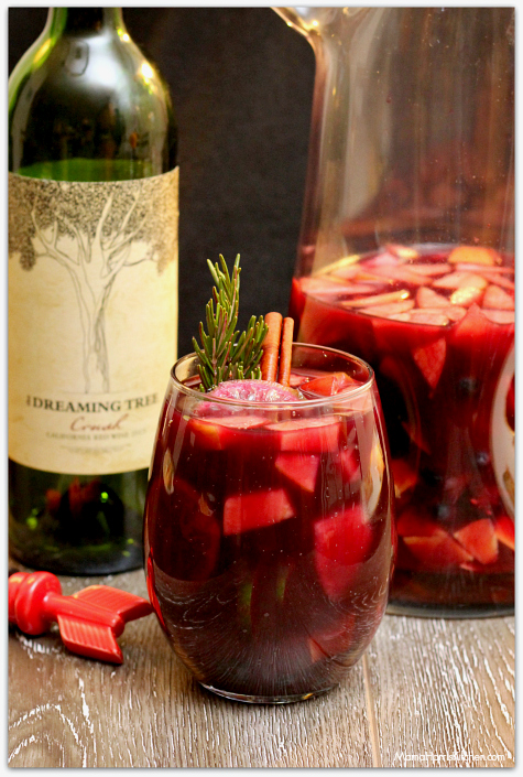 Romantic Brunch dreaming tree red crush wine Sexy Sangria Msg 4 21+ #EntertainAndPair AD | Mama Harris Kitchen