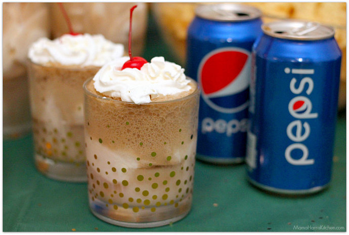 Pepsi Ice Cream Floats for your BIG Game Day Party! #GameDayGlory AD | Mama Harris' Kitchen