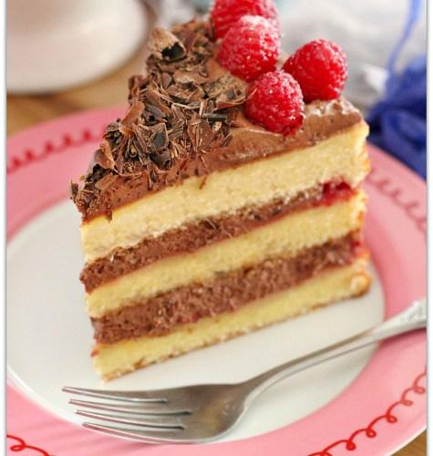 Raspberry Chocolate Mousse Cake