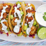 Shrimp Tacos with Cilantro Lime Cream