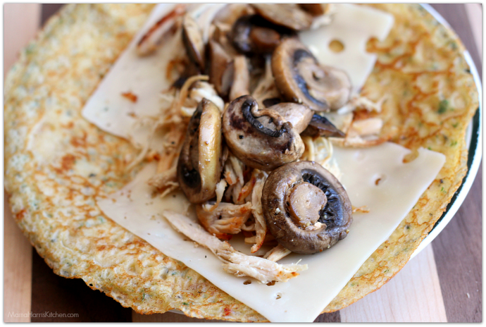 savory crepes filling