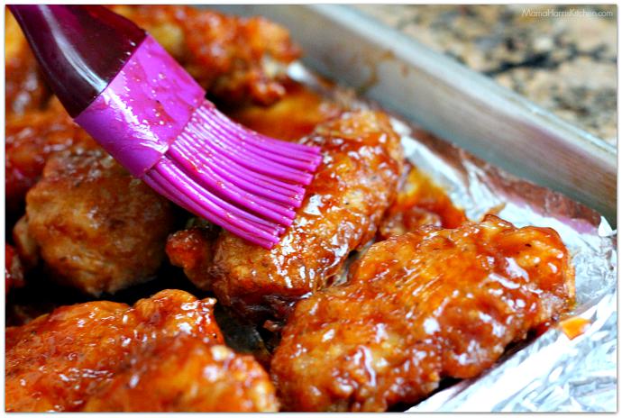 Hawaiian BBQ Chicken Wings #ChicksWingIt #WingItWednesday | Mama Harris' Kitchen