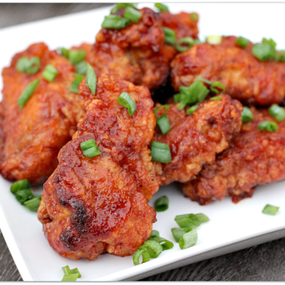 Hawaiian BBQ Chicken Wings