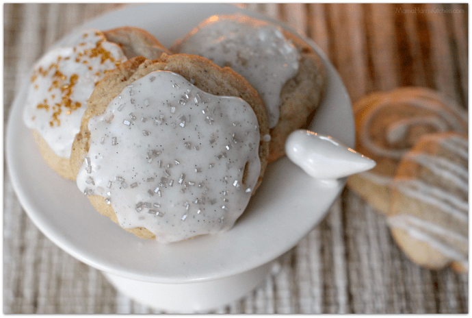 Homemade Recipe for Chai Spiced Sugar Cookies with Vanilla Bean Glaze | Mama Harris' Kitchen