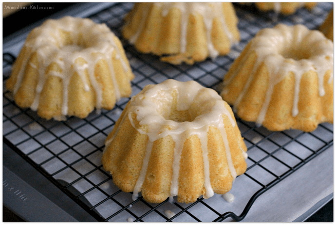 Mini Whipping Cream Pound Cakes with Butter Rum Glaze using Clover Organic Dairy Products #CloverCooks | Mama Harris' Kitchen