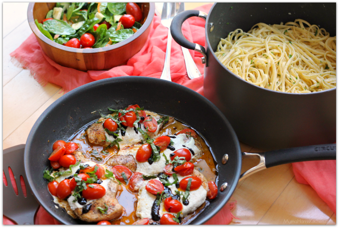 20 Minute Caprese Chicken PLUS a Circulon GIVEAWAY AD | Mama Harris' Kitchen