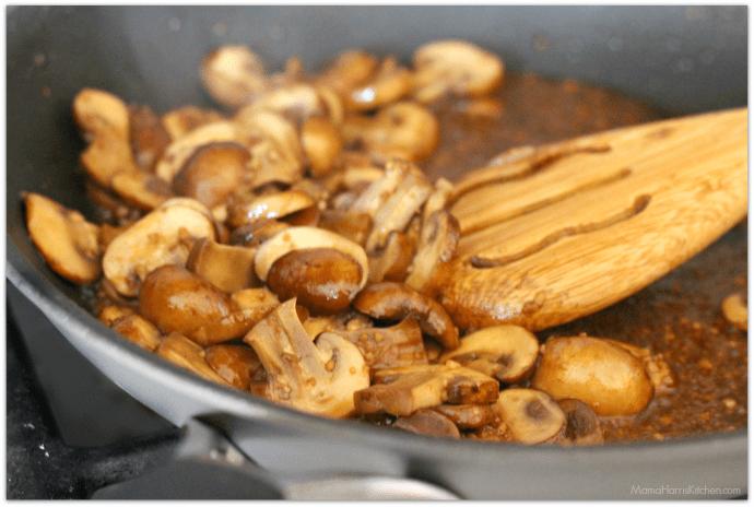 Mushroom Lovers' Roasted Pork Loin Filet and Green Beans #RealFlavorRealFast AD   Mama Harris' Kitchen