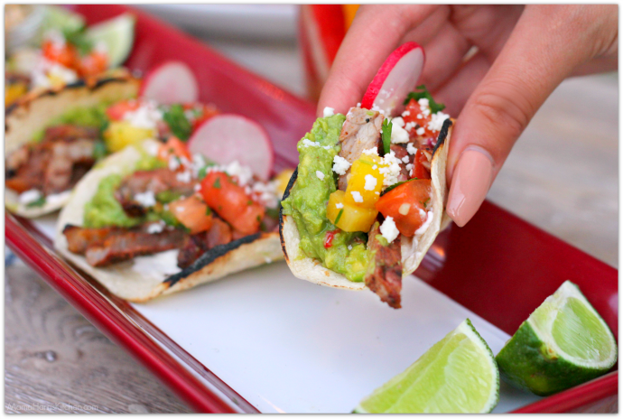 Chili Rubbed Ribeye Tacos with Esquites (Elote Salad) #SaveMartSummer AD | Mama Harris' Kitchen