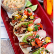 Chili Rubbed Ribeye Tacos with Esquites (Elote Salad)