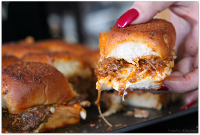 Instant Pot Bourbon BBQ Pulled Pork Sliders | Mama Harris' Kitchen