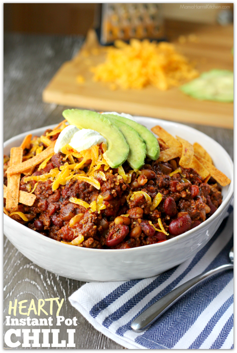 Hearty Instant Pot Chili | Mama Harris' Kitchen