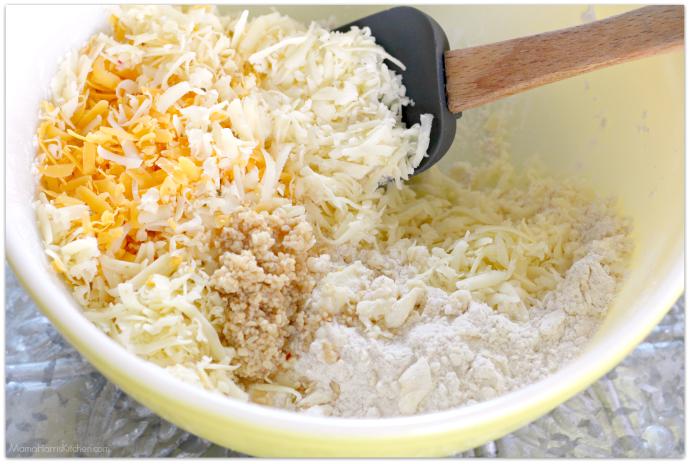 Three Cheese Garlic-Herb Drop Biscuits | Mama Harris' Kitchen