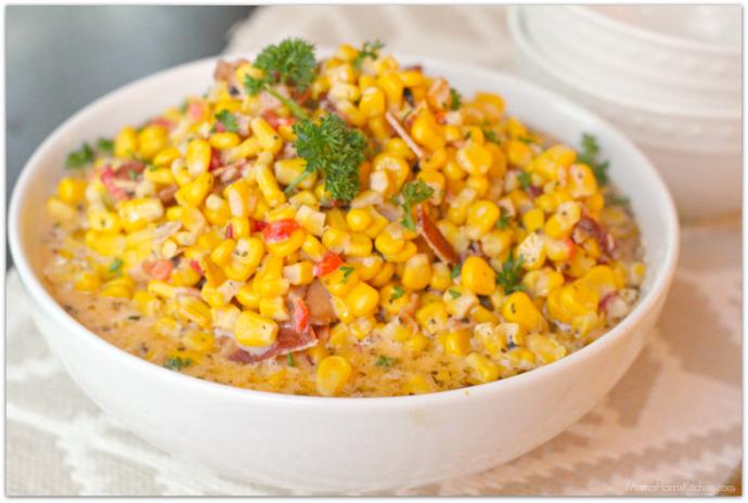 Slow Cooker Creamed Corn | Mama Harris' Kitchen