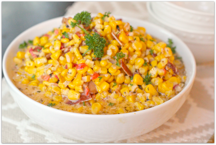 Slow Cooker Creamed Corn | Mama Harris' Kitchen