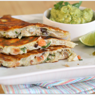 Tex-Mex Tuna Melt Quesadillas