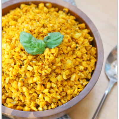 Smoky Turmeric Cauliflower Rice