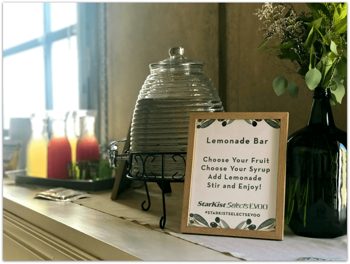 Fresh Entertaining Ideas with Tuna - Custom Lemonade Bar AD #StarKistSelectsEVOO