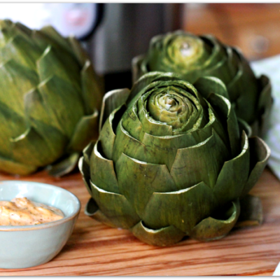 Instant Pot Artichokes with Chipotle Mayo Dip