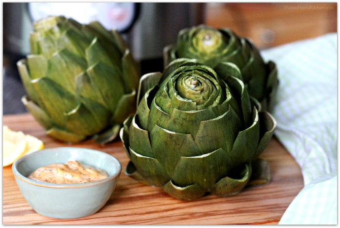 Instant Pot Artichokes with Chipotle Mayo Dip | Mama Harris' Kitchen