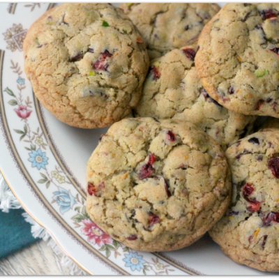 Cranberry Pistachio Citrus Cookies - Mama Harris' Kitchen