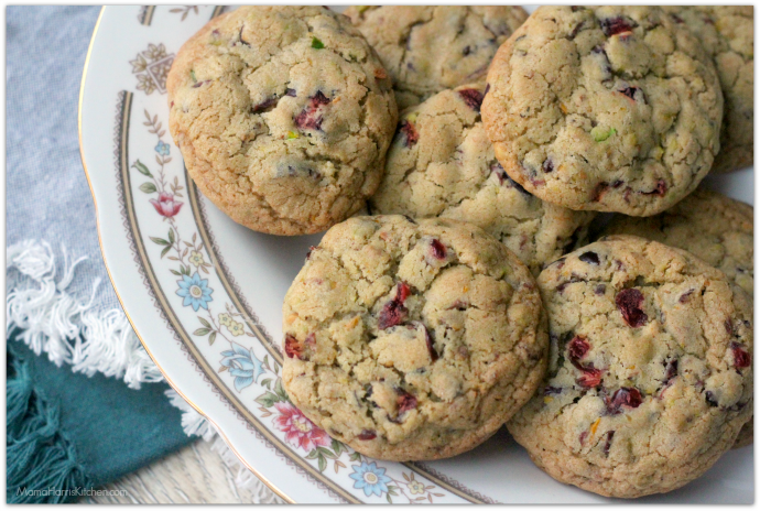 Cranberry Pistachio Citrus Cookies - Mama Harris' Kitchen