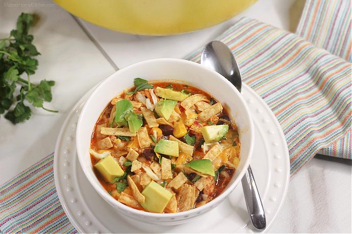 Easy Chicken Tortilla Soup #HousefulOfSoups | Mama Harris' Kitchen