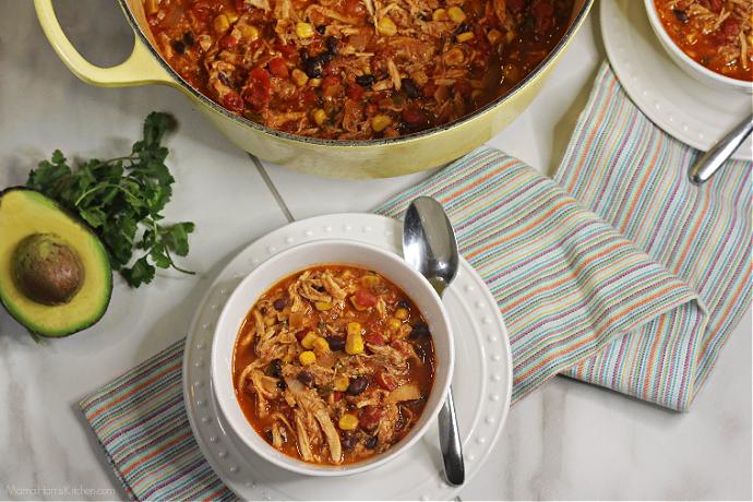 Easy Chicken Tortilla Soup #HousefulOfSoups   Mama Harris' Kitchen