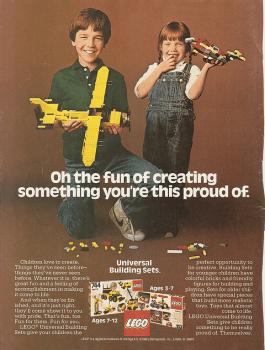 Legowerbung 1980er Jahre